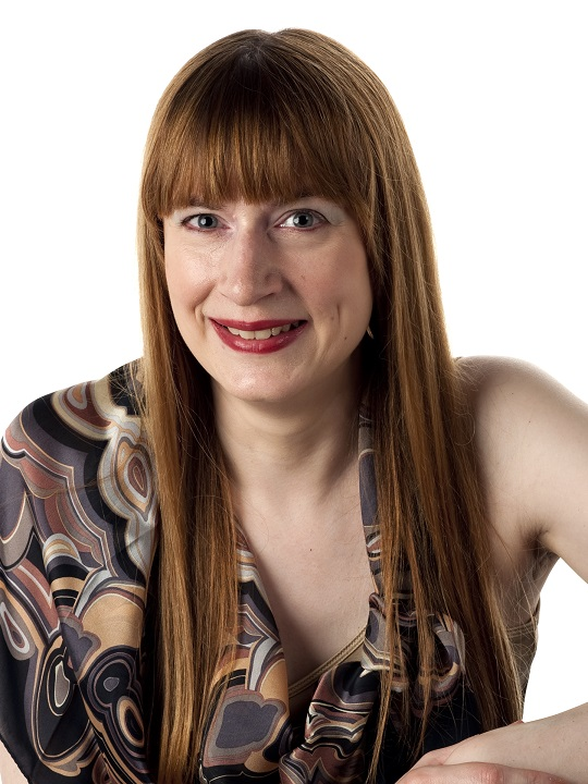 Photo of Sharon Ann Holgate wearing a Missoni scarf