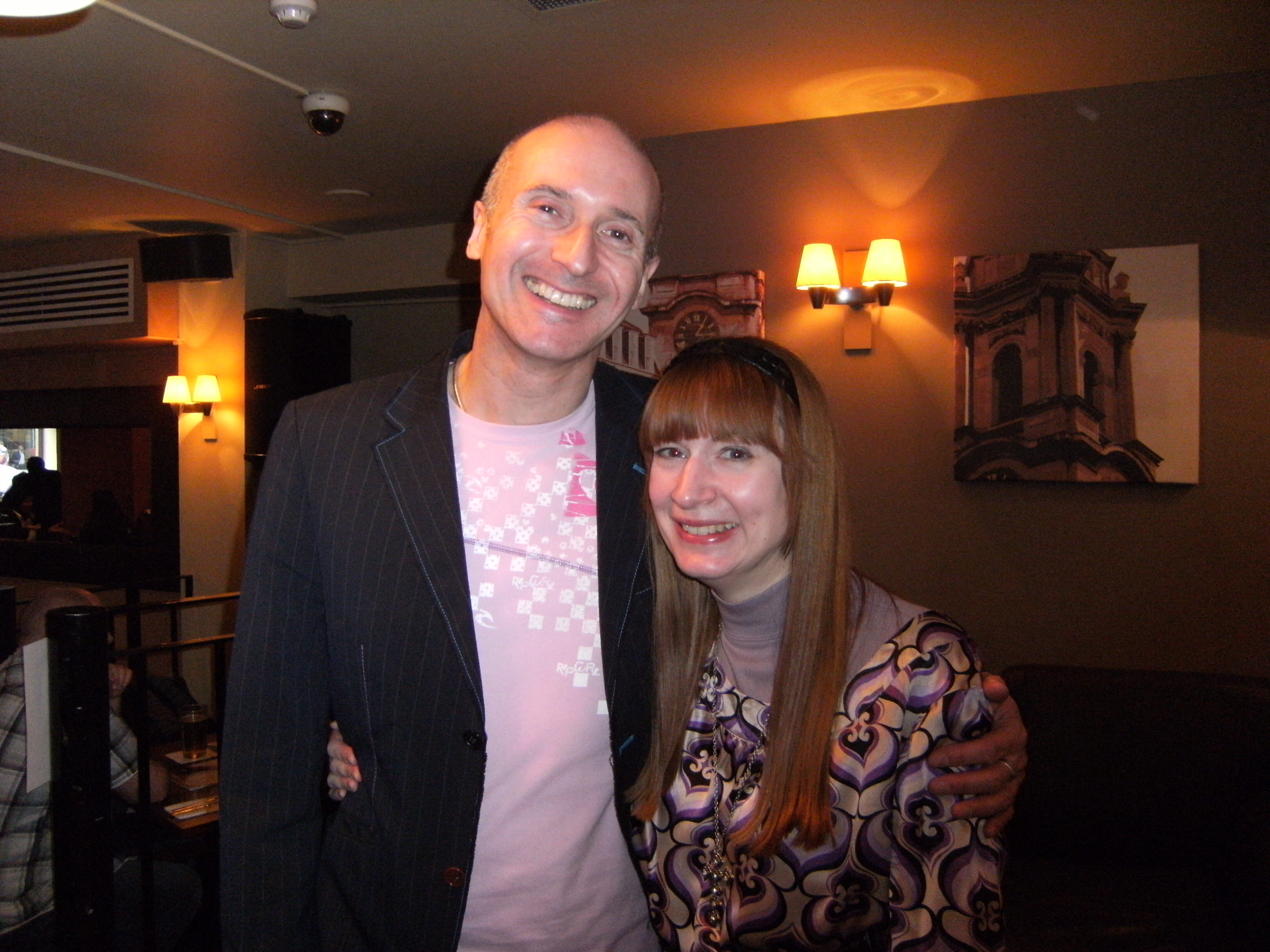 Bill Buckley with Sharon Ann at the 2010 launch event for Understanding Solid State Physics