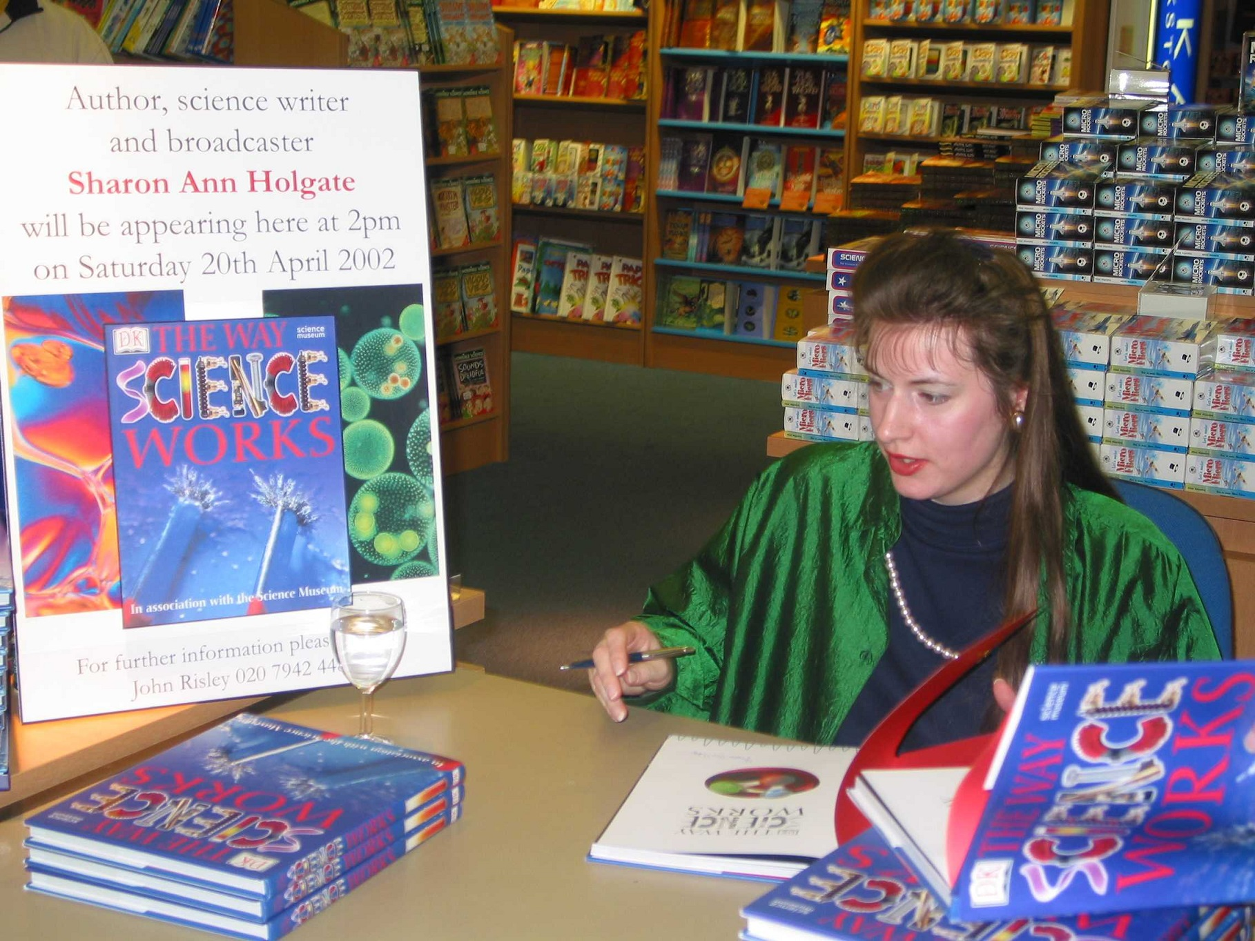 Sharon Ann signing books at the Science Museum in London
