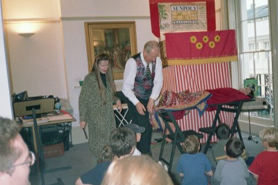 Sharon Ann and Tony performing one of the magic shows at The Jewish Museum